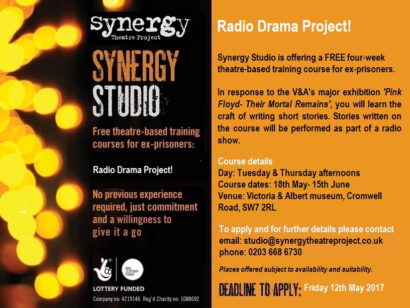 Free four week radio drama project for ex-prisoners